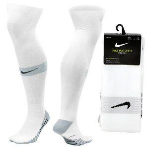 Nike Match Fit Knee High Soccer Socks White OTC